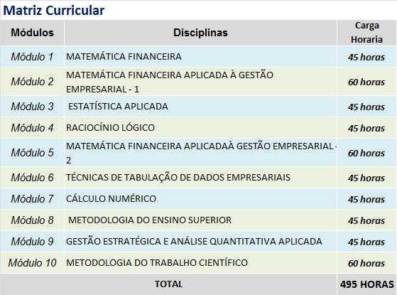 MATEMATICA FINANCEIRA E ESTATISTICA matriz